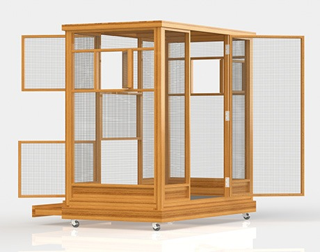 indoor aviary designs